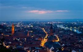 Aperçu fond d'écran Heidelberg, Allemagne, ville, soir, les maisons, les rues, les lumières