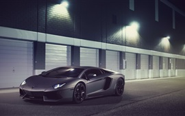 Preview wallpaper Lamborghini Aventador LP700-4 supercar in night