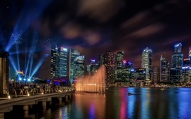 Preview wallpaper Marina Bay Sands, Singapore, buildings, lights