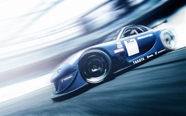 Preview wallpaper Mazda RX7 Gran Turismo 6 blue supercar speed
