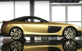 Preview wallpaper McLaren SLR Renovatio golden supercar