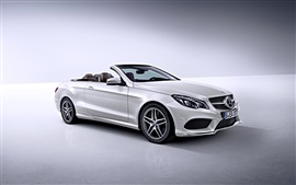 Preview wallpaper Mercedes-Benz E-Class white car