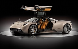 Preview wallpaper Pagani Huayra supercar, doors opened