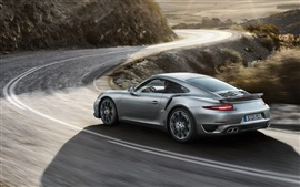Preview wallpaper Porsche 911 Turbo sports car speed