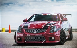 Preview wallpaper Red Cadillac CTS-V race car