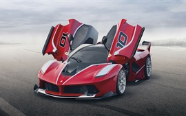 Preview wallpaper Red Ferrari FXX K supercar front view