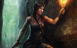 Preview wallpaper Tomb Raider, Lara Croft, girl, torch
