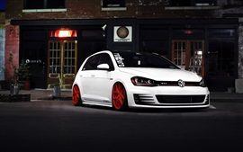Preview wallpaper Volkswagen golf GTI car front view