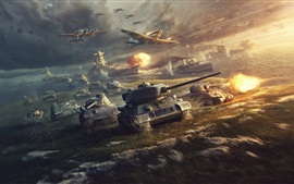Preview wallpaper World of Tanks, war