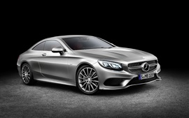Preview wallpaper 2015 Mercedes-Benz S-Class Coupe silver car