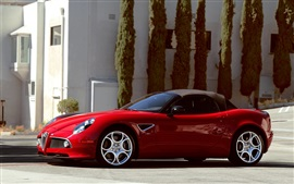 Alfa Romeo 8C spider red supercar