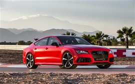 Preview wallpaper Audi RS7 red V8 car
