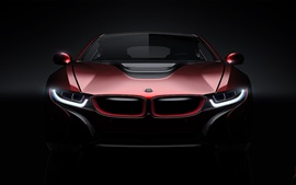 BMW i8 concept car front view, lights