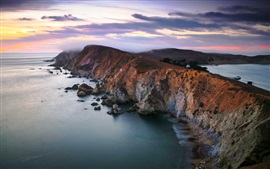 Chimney Rock, Point Reyes National Seashore, California, EE.UU., costa
