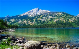 Emerald Lake, Grand Teton National Park, Wyoming, EUA, montanhas