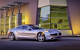 Preview wallpaper Fisker Karma, silver car