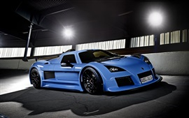 Preview wallpaper Gumpert Apollo blue supercar