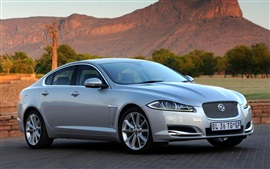 Preview wallpaper Jaguar XF silver car side view