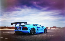 Preview wallpaper Lamborghini Aventador LP700-4 Blue Shark supercar