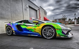 Preview wallpaper Lamborghini Aventador supercar colorful paint