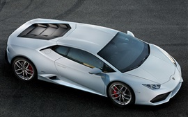 Lamborghini Huracan supercar top view