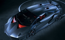 Preview wallpaper Lamborghini Sesto Elemento blue supercar