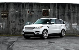 Preview wallpaper Range Rover white SUV car