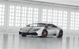 Argent Lamborghini LP 610 supercar
