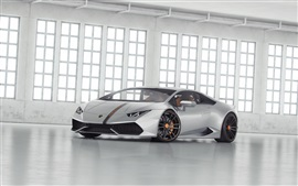 Серебро Lamborghini LP 610 суперкар