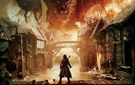 Preview wallpaper The Hobbit: The Battle of the Five Armies, dragon
