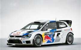 Preview wallpaper Volkswagen Polo WRC 2013 rally car