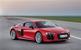 Preview wallpaper 2015 Audi R8 red car