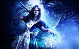Alice Madness Returns, estilo azul, magia
