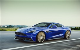 Aston Martin 2013 blue car