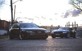 Audi A4 и BMW автомобили