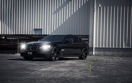 BMW 750i black car Wallpapers Pictures Photos Images