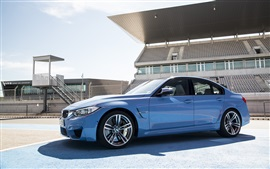 Preview wallpaper BMW M3 Sedan F80 blue car 2015