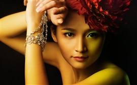 Preview wallpaper Beautiful asian girl, fashion, makeup