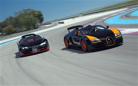 Preview wallpaper Bugatti Veyron supercars in race