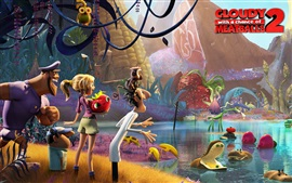 Preview wallpaper Cloudy with a Chance of Meatballs 2
