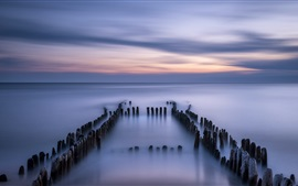 Germany, North sea, calm, evening, dusk