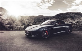 Preview wallpaper Jaguar F-Type V8 S black supercar