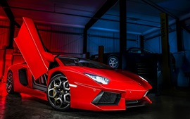 Lamborghini Aventador LP700-4 red supercar front view