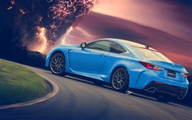 Preview wallpaper Lexus RC-F blue supercar