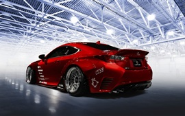 Preview wallpaper Lexus RC-F red sport car back view