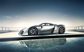 Preview wallpaper Marussia B2 supercar side view