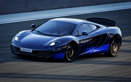 Preview wallpaper McLaren MP4-12C blue supercar speed