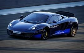 McLaren MP4-12C velocidad azul superdeportivo