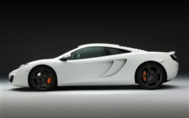 Preview wallpaper McLaren MP4-12C white car