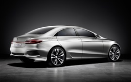 Preview wallpaper Mercedes-Benz F800 concept car side view